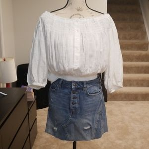 New Free People till down smocked off the shoulder